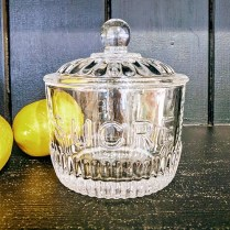 Kiss That Frog 'Sucre' lidded sugar jar. 15.-