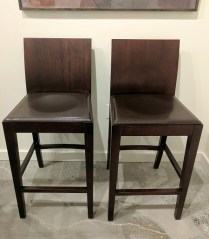 **ITEMS NOW SOLD**Used in staging in downtown condo. Stained wood finish. Currently 3 pairs available. 295.-/pair
