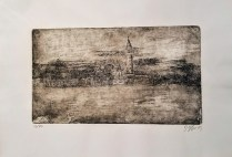 "Etching of Venice by Venetian artist. Alessandra D'Agnolo. 14"" x 9.5"" 58.50"