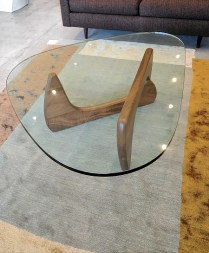 **ITEM NOW SOLD**Herman Miller Noguchi Table. Purchased at DWR in 2013. Walnut base. Current List: $1750.-+ freight. Modele's Price: 1100.-