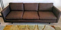 Thayer Coggin 'Classic' sofa. Design by Milo Baughman. Model #855-303 with wood legs. Current List: over $3000. Modele's Price: 1295.-