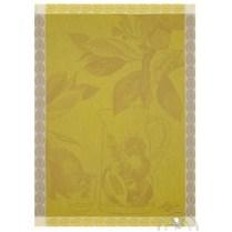 Le Jacquard Francais tea towel. 'Eaux dagrumes de citrons'. 100% cotton. 24.-