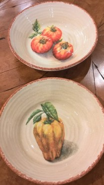 "**ITEM NOW SOLD** Set/2 Williams Sonoma ceramic serving bowls. 10"" diameter. 25.- set/2"