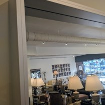 "**ITEM NOW SOLD** Design Within Reach over-sized wall mirror. Aprrox. 9-10 years old. Aluminum frame. 47""w x 82.5"" Orig. List: over $2,000. Modele's Price: 950.-"