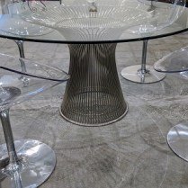 """**ITEM NOW SOLD** Warren Platner dining table for Knoll, purchased in 2004, 53""""d. x 27""""h Current List: $4,069. Modele's Price: 1950.-"""
