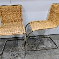 **ITEM NOW SOLD** Set/6 Tecta 'B42 Weissenhof' chairs. Purchased 5 yrs. ago from Design Within Reach. Custom made to order; 4-month lead time. Nickel-plated steel tube frame. Current List: $2.012. per chair. Modele's Price: 2950.- set/6