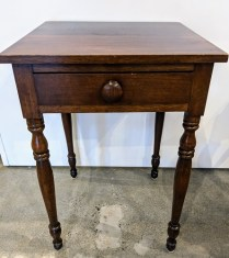 "Antique side table, purchased from Singer Antique Gallery on Queen Anne hill, c. 1800's. 19.5""w x 19.25""d x 28.25""h 125.-"