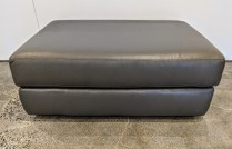 "*ITEM NOW SOLD"" Design Within Reach 'Reid' leather ottoman. 36"" x 24"" x 14.5""h. Current List: $1,795. Modele's Price: 495.-"