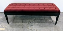 """Porada (Italian co.) 'Webby' bench with tufting detail and velvet upholstery. Used only for staging, less than one year old. 50""""l x 17""""d x 16.5""""h. Current List: $2,500.-2,900. Modele's Price: 950.-"""