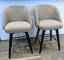 "Set/4 Room & Board 'Cora' counter stools. 2 years old, very light use. 21""w x 23.5""d x 36.5""h. Current List: $699. per stool. Modele's Price: 1295.- set/4. OR; purchase per pair: 647.50 pr."