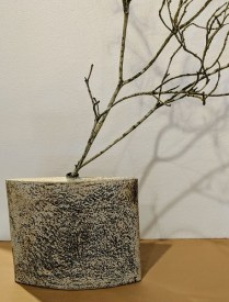 """**ITEM NOW SOLD** Brian O'Neill ceramic vase, 2 years old. Purchased from Museo Gallery in Langley, Whidbey Island. 11.25""""w x 10.25""""h. Orig. List: $320.- Modele's Price: 110.-"""