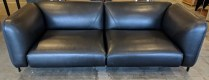 """**ITEM NOW SOLD** Roche Bobois 'Lobby' Large 3-Seat sofa. Three years old, beautiful condition. Saddle leather/wool. 83""""w x 36""""d x 28""""h. Current List: $11,170. Modele's Price: 3950.-"""