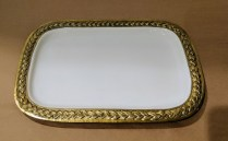 "**ITEM NOW SOLD** ""Braid"" platter by Marigold Artisans. Purchased at Nordstrom 6 months ago. 11.25"" x 7.25"". Orig. List: 40.- Modele's Price: 20.-"
