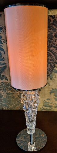 "**ITEMS NOW SOLD** Axo Light 'Subzero' mini table lamp. Bohemian glass base, Italian design. Never used in a home, arrived in original box. 4.5"" dia. x 15.5""h. Current List: $288. Modele's Price: 150.- each (3 available)"