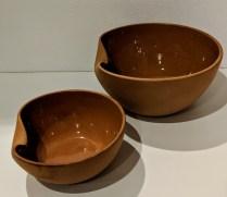 "Tiffany Elsa Peretti terra cotta Thumbprint bowls: Small: 7.25"" dia. 275.- Large: 10"" dia. 295.-"
