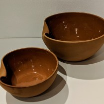"**ITEMS NOW SOLD** Tiffany Elsa Peretti terra cotta Thumbprint bowls: Large: 10"" dia. 145.- (smaller bowl has sold)"