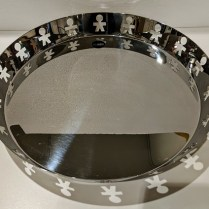 "**ITEM NOW SOLD** Alessi 'Girotondo' tray, 15"" dia. x 2""h. Current List: $135. Modele's Price: 70.-"