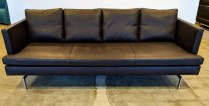 "**ITEM NOW SOLD** Ligne Roset 'Stricto Sensu' leather sofa, purchased in 2007. 79.5""l x 33""d x 30""h. Current List: $6,740. Modele's Price: 1500."