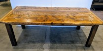 "Jeff Soderbergh reclaimed pine dining table, built from Vanderbilt Polo barn wood. One of only twelve made. 88""l x 44"" w x 30.25""h. Orig. List: $11,000. plus shipping from east coast. Modele's Price: 5950.-"