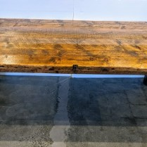 """**ITEM NOW SOLD** Jeff Soderbergh reclaimed pine dining table, built from Vanderbilt Polo barn wood. One of only twelve made. 88""""l x 44"""" w x 30.25""""h. Orig. List: $11,000. plus shipping from east coast. Modele's Price: 5950.-"""