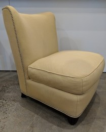"Baker Barbara Barry 'Slipper' lounge chair. Approx. 10 yrs. old, very little use. 28""w x 33""d x 34""h. Orig. List: approx: $2000. Modele's Price: 750.-"