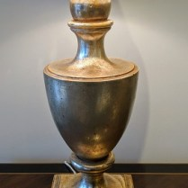 "**ITEM NOW SOLD** Nancy Corzine #210 Garvin Urn table lamp. Purchased in 1999. Double socket. 31""h. 495.-"