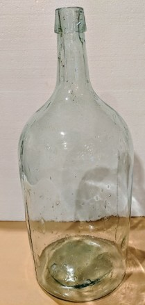 "**ITEM NOW SOLD** Vintage Italian wine jug, purchased in 1961 from Napa vineyard owner. 7.25""dia. x 18""h 125.-"