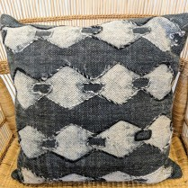 "**ITEM NOW SO9LD** 'Evelyn' pillow, never used. 18.5"" square. 30.-"