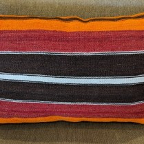 "Kilim pillow, from Turkey. 27""w x 18""h 95.-"