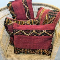 **ITEMS NOW SOLD** Throw pillows made from Moroccan carpet. Never used. Prices range from 50.- 75.