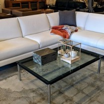 "**ITEM NOW SOLD** Roche Bobois 'Caractere-Composition' 2-piece sectional in leather. 4 years old, very light use. 10' 1"" x 7' 8"" x 31""h Original List: $11,260. Modele's Price: 4750.-"
