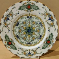 "**iTEM NOW SOLD** Set/10 Royal Worcester 'Canopic' dinner plates. Green, with red flowers. Discontinued pattern but available through Replacements Ltd. for $159.95 each dinner plate, or $1,599.50 set/10. 10.5"" dia. Modele's Price: 295.-set/10"