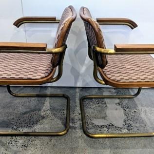 Set/4 vintage Stendig Cesca armchairs (design by Marcel Breuer). Purchased in 1980. 795.- Set/4
