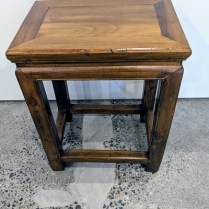"**ITEM NOW SOLD** Vintage Chinese side table, age not known. Nice patina from use. 15""w x 10.5""d x 18.5""h. 125.-"