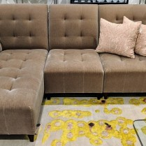 "**ITEM NOW SOLD** Donghia 3-piece sectional in wool mohair. Purchased in 1999. 96.25""w x 61""d x 34.5""h. 1500.-"