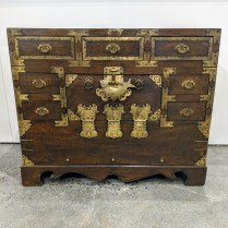 """**ITEM NOW SOLD** Small antique Korean blanket chest. Purchased from the Stephen Earls Showroom in the early 1970's. 35""""w x 14.5""""d x 28.5""""h. 495.-"""