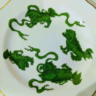 """Set/8 Wedgwood 'Chinese Tigers' 6"""" bread and butter plates. 125.- set/8"""