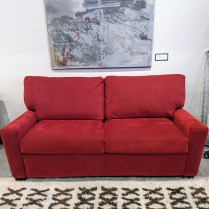 "**ITEM NOW SOLD** American Leather sofa sleeper in Ultrasuede. Queen-size bed. Very light use, beautiful condition. 76""w x 40""d x 37.5""h. Orig. list: approx. $4.000. Modele's Price: 1950.-"