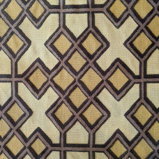 """Geometric patterned area rug, 8-9 years old. Recently cleaned. Wool/flat weave background with tufted design, 55""""w x 8'4""""l. Orig. list: approx. $3,000. Modele's Price: 525.-"""