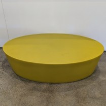 "**ITEM NOW SOLD** Knoll Maya Lin outdoor coffee table, from her Stones Collection. Large size, now discontinued, in chartreuse. 43.75""l x 29.5""w x 10.525""h. Orig. list: approx. $1,000. Modele's Price: 395.-"