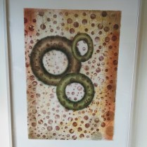 """Framed Barbara Robertson print, purchased in 2004. Artist shows at The Davidson Gallery, Seattle. 31.25""""w x 41.25""""h. 495.-"""