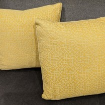 """Pair custom Fortuny throw pillows, never used. Fortuny on both sides. 19"""" sq. 395. pair"""