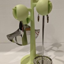 "Alessi Faitoo utensils on Mangatoo tree, designed by Philippe Starck. No longer in production, this set was never used. 11.25""h. Orig. list: over $300. Modele's Price: 95."