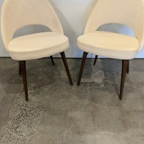 """**ITEM NOW SOLD** Pair Knoll 'Saarinen Executive chairs', very light use. 22.5""""w x 21""""d x 31""""h. Current list: $3,012. pair. Modele's price: 1500. pair"""