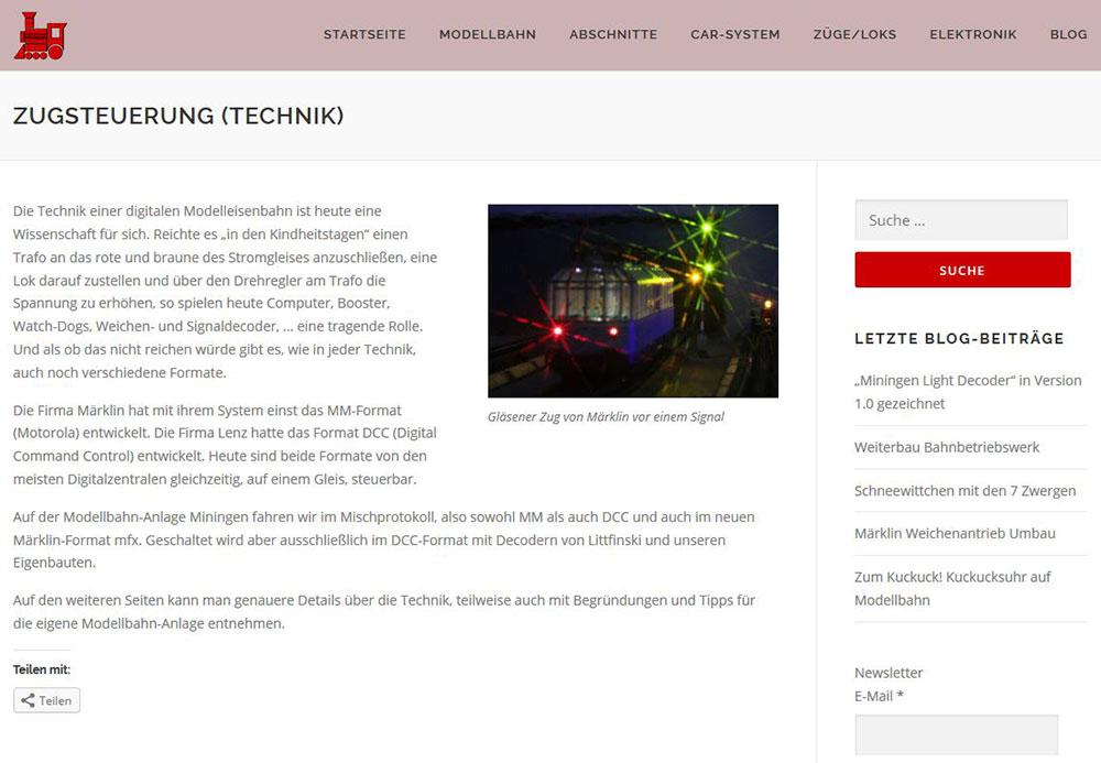 Screen der Version4 unserer neuen Homepage