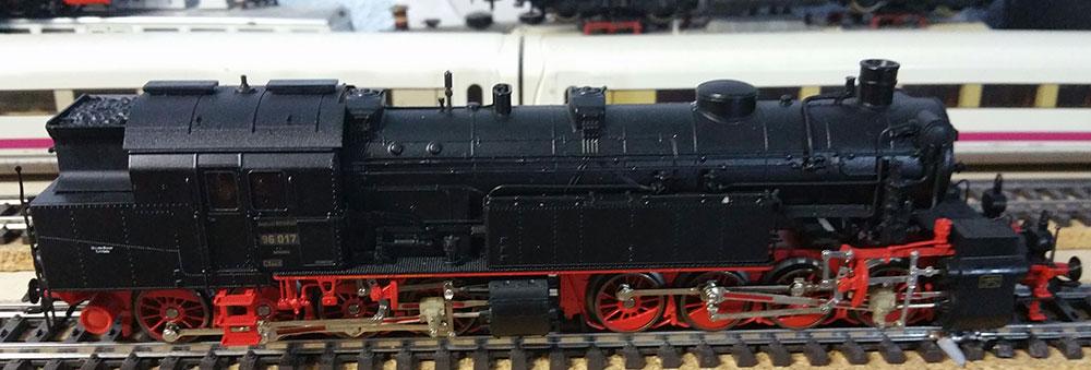 BR96 - erste Testfahrt auf der Modellbahn