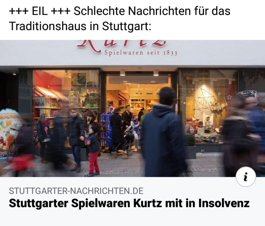 Spielwaren Kurtz in Stuttgart