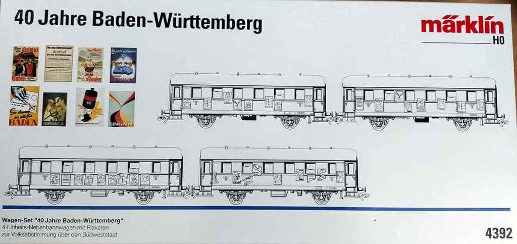 Märklin Wagenset 4392 Anhänger Länderbahn Baden Württemberg