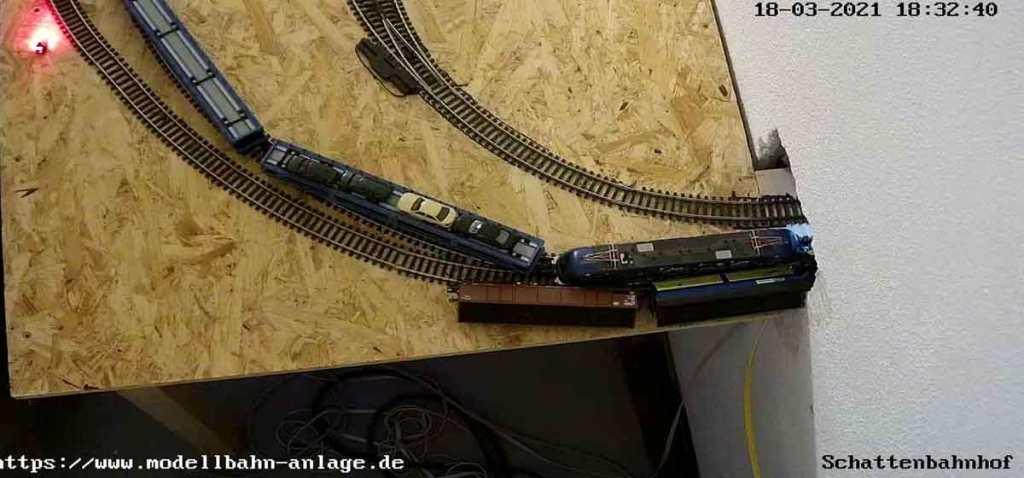 Unfall im Schattenbahnhof