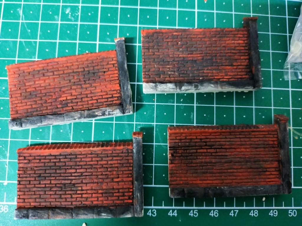 Mauern für Wohnsiedlung Modellbahn Phillipsburg